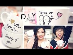 Fun DIY Sharpie Mugs! + Bloopers! ♡ - YouTube