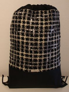 Beutel / Rucksack / Tasche  **schwarz-weiß-grau** von nahtSachen auf DaWanda.com