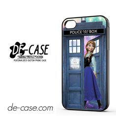 Anna Frozen Tardis For Iphone 4 Iphone 4S Case Phone Case Gift Present YO