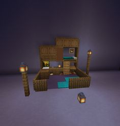 I saw a post a while ago about a bed design. i dont remember who posted it but i upgraded it. :) : Minecraft I saw a post a while ago about a bed design. i dont remember who posted it but i upgraded it. Plans Minecraft, Minecraft Building Guide, Minecraft Room, Minecraft Survival, Cool Minecraft Houses, Minecraft Tutorial, Minecraft Blueprints, Minecraft Crafts, Minecraft Furniture