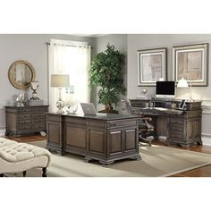 2017 Hot Sale Luxury Executive Office Desk Wooden Office Desk On ...