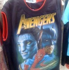 This is an Avengers shirt being sold on the streets of Puerto Rico. As if it wasn't already the best Avengers shirt available, IT'S EVEN SLEEVELESS. What is this, my lucky day? Avengers Shirt, New Avengers, Avengers Movies, Funny Avengers, Batman Shirt, Memes Humor, Funny Memes, Ecards Humor, Humor Videos