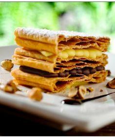 Mil folhas de Nutella com Crocante de avelâ