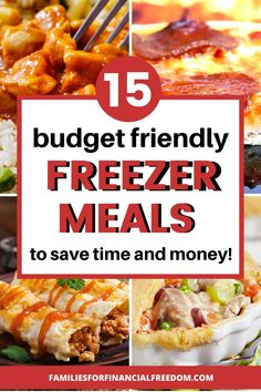 These are such great ideas for make ahead freezer meals on a budget! Cheap and easy freezer meals! Super easy and cheap freezer meals for families or kids! Find cheap meals for dinner! Budget Freezer Meals, Freezer Friendly Meals, Make Ahead Freezer Meals, Dump Meals, Easy Family Meals, Frugal Meals, Budget Recipes, Freezer Food, Group Meals