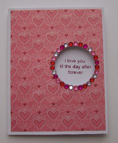 I love you card : Gallery : A Cherry On Top