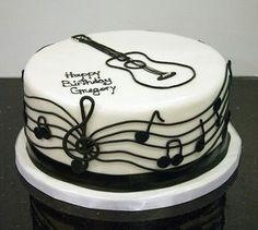Trendy cake pops for boys 22 Ideas Guitar Birthday Cakes, Guitar Cake, Happy Birthday Cakes, Music Themed Cakes, Music Cakes, Fondant Cakes, Cupcake Cakes, Bolo Musical, Elvis Cakes