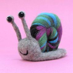 Snail Needle Felting Kit  DIY Craft Kit by HawthornHandmade