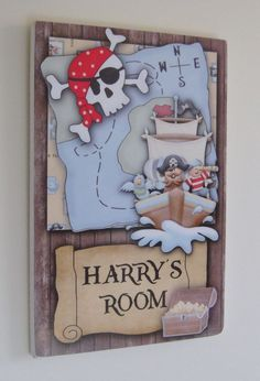 Pirate Name Plaque Door Sign Personalised