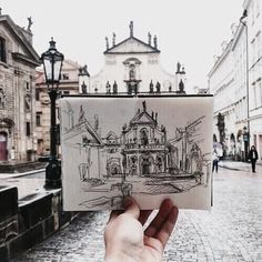 This Artist Sketches The Places She Goes To Every Day - Art Sketches Travel Sketchbook, Arte Sketchbook, Small Sketchbook, Sketchbook Architecture, Architecture Drawing Plan, Art Sketches, Art Drawings, Desenhos Gravity Falls, Art Hoe