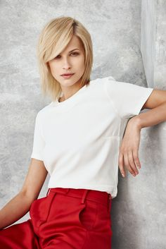 one concept RED Collection is here! Perfect Blonde, Fashion Images, Hair Color, Collections, Portraits, Concept, Red, Beauty, Women