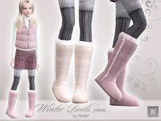 [original_tittle] – The Sims Resource [pin_tittle] Winter Boots for Teen by www. Sims 3 Cc Clothes, Sims 4 Cc Kids Clothing, Sims 4 Cc Shoes, Sims 3 Mods, Sims 4 Teen, Sims 4 Toddler, Sims Cc, Winter Mode Outfits, Winter Fashion Outfits