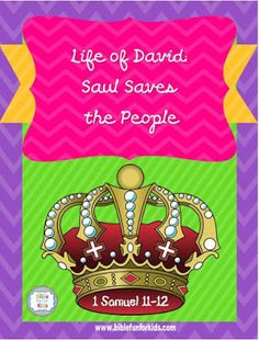 Life of David: Saul Saves the People lesson, ideas and printables David And Saul, Kings Of Israel, David And Goliath, Sermon Series, Church Nursery, Bible Crafts, Old Testament, Nursery Rhymes, Door Decorating