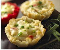 Mini brie and crab appetizer