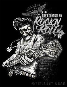 Nuevo-Men-t-shirt-talla-S-M-L-XL-XXL-negro-rock-n-roll-rockabilly-Old-School
