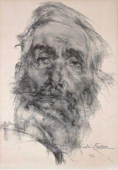 Nicolai Ivanovich Fechin (1881-1955) - Pencil work