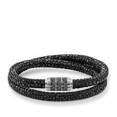 Leather bracelet from the Rebel at heart collection in the THOMAS SABO online store Thomas Sabo, Bracelets En Argent Sterling, Bracelet Cuir, Best Brand, Bracelet Making, Jewelry Stores, Bling, Unisex, Jewels