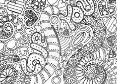 Zentangles To Print | deviantART: More Like Healing Zentangle Inspired Mandala Lineart by ...