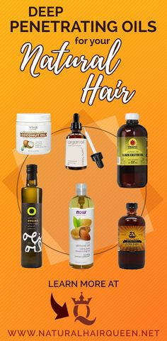 What Natural Oils Penetrate the Hair Shaft? Deep Penetrating Oils for your Natural Hair Natural Hair Gel, Best Natural Hair Products, Natural Hair Regimen, Natural Haircare, Natural Hair Growth, Natural Oils, Natural Makeup, Natural Beauty, Mascara