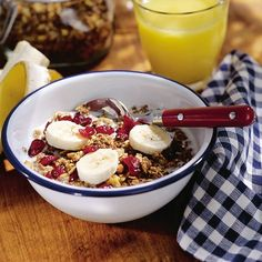 Crunchy Homemade Granola- tried and tested MANY MANY times! You can vary the ingredients: I use less sugar and add chia seeds, oat bran and whatever else I can find in my cupboards!