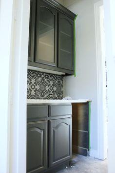 Hi Sugarplum | Kitchen Renovation Progress SW Iron Ore cabinet color for vanity?