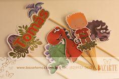 todo bolo Dinossauro festa infantil personalizados papelaria roar