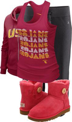 """USC Trojans"" by lexxi-lynn-hanna on Polyvore"