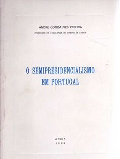 This 1984 volume sets out the semi-presidential system in Portugal primarily from a public law perspective, but also in terms of the politics of the regime since democratisation