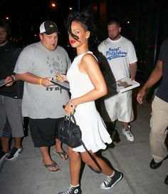 Gorgeous Rihanna with Ex-Boyfriend Chris Brown at Avenue Nightclub in New York