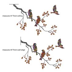 Birds And Tree Branch Wall Sticker Decal - Instructions on how to put up a wall sticker