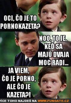 Táto, co je to pornokazeta? Best Memes, Haha, Finance, Funny Pictures, Jokes, Good Things, Retro, Fanny Pics, Husky Jokes