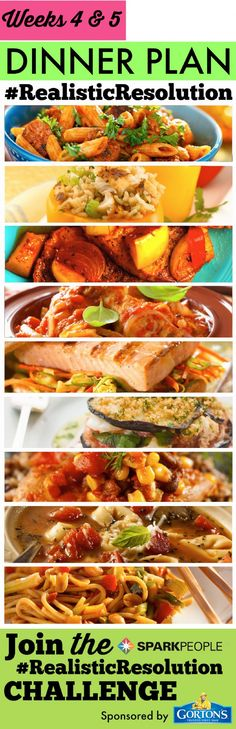 30 days of healthy meal plans! Easy to follow, easy to make! | via @SparkPeople