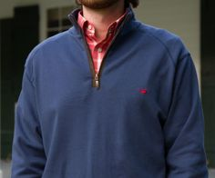 Southern Marsh Collection — DownpourDry Cotton Pullover - Washed Navy