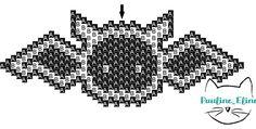 Chauve-Souris tissage Brick Stitch en perles Miyuki par Pauline Eline schéma