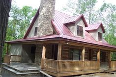 This beautiful, rustic home was built by Kiehneau Builders with materials supplied by the Green Bay East Menards. We love how well the steel roof turned out! Butterfly Roof, Fibreglass Roof, Modern Roofing, Steel Roofing, Roof Architecture, Roof Light, Flat Roof, Roof Design, House Roof