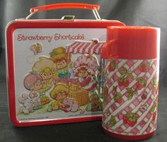 My 1st grade lunch box!!!  Hey, I found this really awesome Etsy listing at https://www.etsy.com/listing/123205766/vintage-strawberry-shortcake-lunchbox