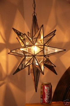"Moravian 20"" Clear Glass  mirror Star-26 points 