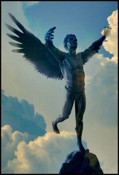 Icarus above the island of Ikaria, Greece, before he fell to his death. Greek Mythology Gods, Greek Gods, Ikaria Greece, Zorba The Greek, Samos, Ancient Greece, Greek Islands, Death, Wanderlust