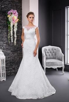 Georgiana is an enchanting mermaid gown with dramatic lace bodice into a tulle skirt. Mermaid Gown, Lace Bodice, Wedding Gowns, Tulle, Romantic, Bridal, Skirts, Facebook, Collection