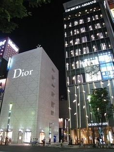 Dior and Giorgio Armani in Ginza, Tokyo ~ the best shopping ever