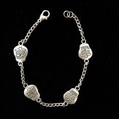 Sugar skull bracelet by TreasuresByTerese on Etsy