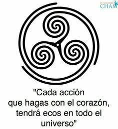 Cada acción que hagas con el corazón, tendrá ecos en el universo Mini Tattoos, Body Art Tattoos, Tatoos, Viking Symbols, Celtic Tattoos, Celtic Art, Symbolic Tattoos, Runes, Sacred Geometry