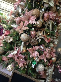 Dusty Rose Christmas tree