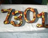 Stained Glass Numbers and Alphabet | Custom Made Stained Glass Mosaic House Numbers - Wild & Funky Colors ...