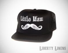 "New ""trucker hats"" for toddlers! Perfect for a first birthday ""mustache bash!"""