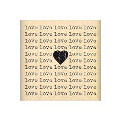 Tampon bois CARRÉ LOVE