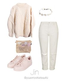 """BTS Inspired [sweaters]"" by youaremorethanbeautiful ❤ liked on Polyvore featuring Topshop"