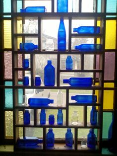 Ideas for all my cobalt glassware...