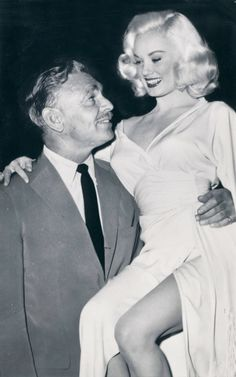Mamie Van Doren and Clark Gable