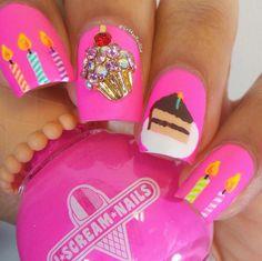 82 Glitter Nail Art Designs by Gabby Morris - Cool Fashion Accessories Creative Nail Designs, Creative Nails, Nail Art Designs, Nails Design, Birthday Nail Designs, Birthday Nail Art, Birthday Design, Trendy Nails, Cute Nails