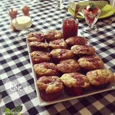 inspired by charm: Eight Lovely Things: Weekends with Michael  #1 Rubarb muffins  recipe here:  http://beekman1802.com/general/swirly-strawberry-rhubarb-muffins.html